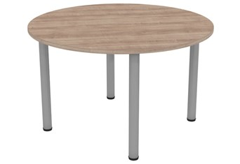 Thames Round Meeting Table - 1000mm Grey Birch