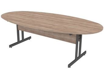 Thames  Oval  Boardroom Table - 1800mm Grey Birch