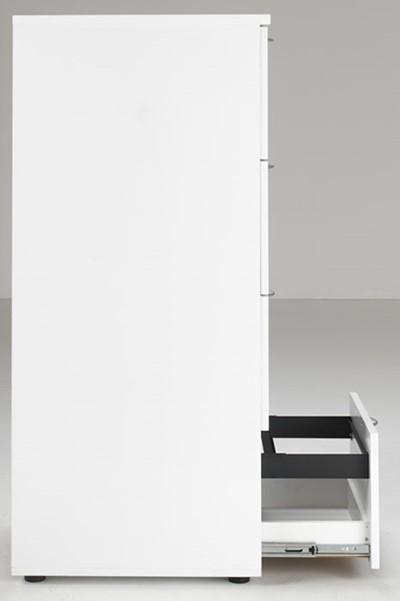 Kestral White 4 Drawer Filing Cabinet