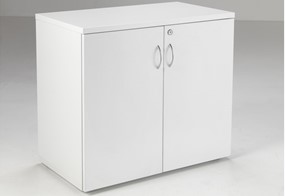 Kestral White Desk High Cupboard
