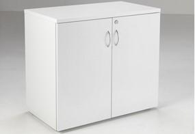 Kestral White Desk High Cupboard