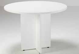 Hawk  White Round Meeting Table