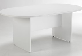 Kestral White D End Boardroom Table