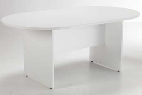 Hawk White D End Boardroom Table