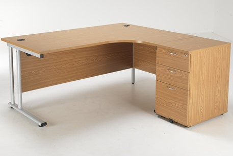 Hawk Crescent Desk And Pedestal