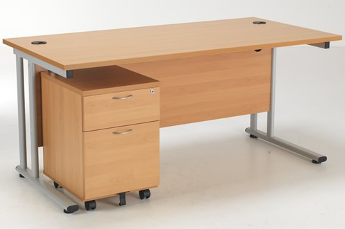 Kestral Promo Desk And Pedestal