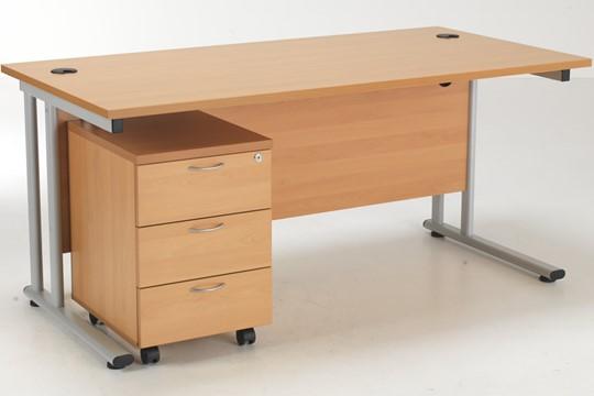 Kestral Promo Desk And Pedestal