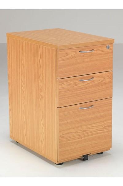 Kestral 3 Drawer Desk High Pedestal