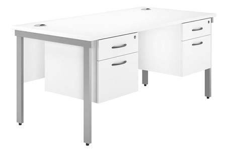 Valoir Double Pedestal Bench Desk