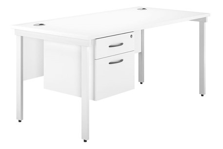Valoir Single Pedestal Bench Desk