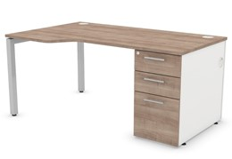 Duty Wave Pedestal Desk