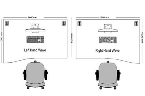 Kestral Grey Oak Wave Cantilever Desk
