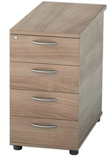 Universal 4 Drawer Desk High Pedestal - Birch 600mm