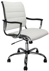Carbis Designer Swivel Chair - White