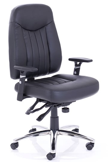 Barcelona Black Leather Ergonomic Office Chair - Ergonomic office chair uk