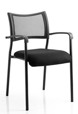 Stackable Black Meeting Chair - Black