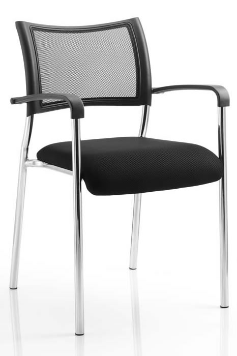 Stackable Chrome Meeting Chair With Arms
